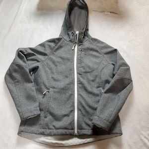 Kirkland Signature Womens Grey Hooded Lined Coat L